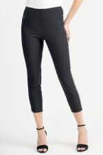 Joseph Ribkoff Diamante Side Band Cropped Trousers