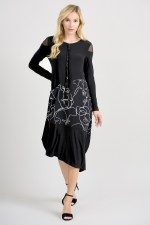 Joseph Ribkoff Face Print Dress (201285)