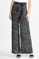 Joseph Ribkoff Belted Spot Trousers