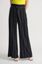 Joseph Ribkoff Stripe Tie Belt Trousers (202024)