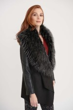 Joseph Ribkoff Fur Trim Coat