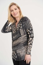 Joseph Ribkoff Diamante Zip Tunic