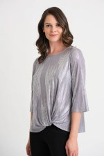 Joseph Ribkoff Metallic Top