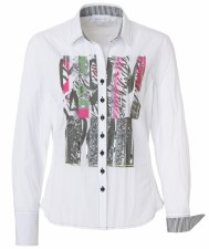 Just White Embellished Crinkle Shirt (41681)