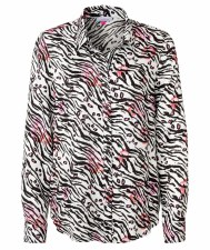 Just White Zebra Print Blouse (41702)