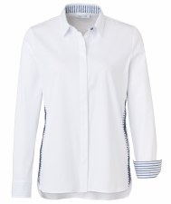 Just White Stripe Diamante Shirt (41949)