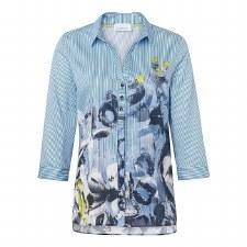 Just White Stripe Print Shirt