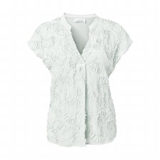 Just White Ribbon Top