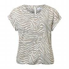 Just White Zebra Print Top