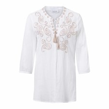 Just White Embroidered Tunic