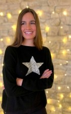 Luella Cashmere Sequin Star Jumper