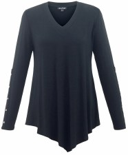 Marble Jersey V Top