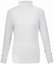 Marble Jersey Polo Neck Top