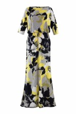 Marble Maxi Print Dress