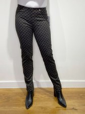 Robell Bella Houndstooth Trousers