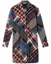 Sandwich Patchwork Check Shirt