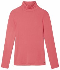 Sandwich Jersey Polo Neck Top