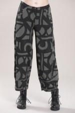 Vetono Jersey Print 'O' Trousers
