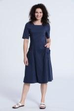 Vetono Poplin Pocket Dress