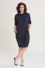 Vetono Stripe Linen Dress