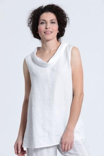 Vetono Cowl Linen Top