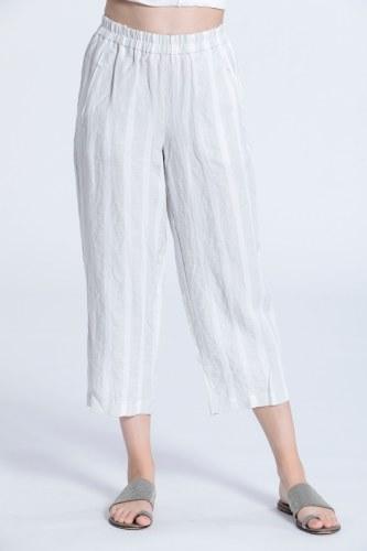 Vetono Stripe Linen Trousers