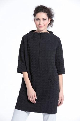 Vetono Textured Zip Dress