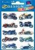 Avery Stickers - 3D Motor Bike