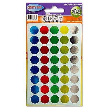 Crafty Bitz Dot Stickers 200