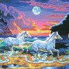 Paint by Nos Horses inthe Surf