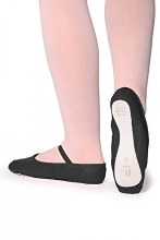 Ophelia Leather Ballet Shoe Black