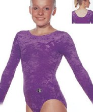 Ramona Velour Leotard Purple Size 26