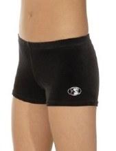 Velour Shorties Black Size 34