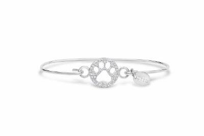 Pave Icon Bracelet: Paw