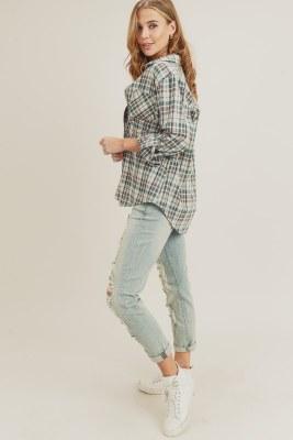 Plaid Shirt w/ Pockets Small