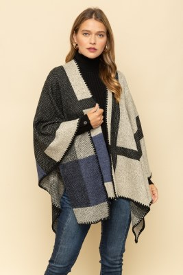 Checker Block Poncho