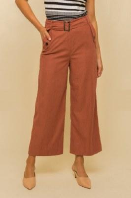 Belted Crop Pants Large