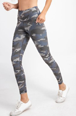 Butter Leggings Grey Blue Camo Medium