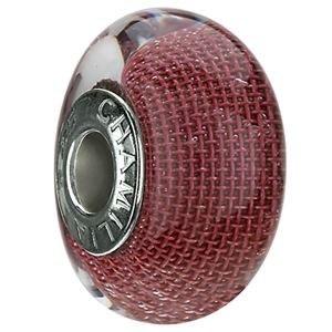 Cranberry Mesh Murano Glass
