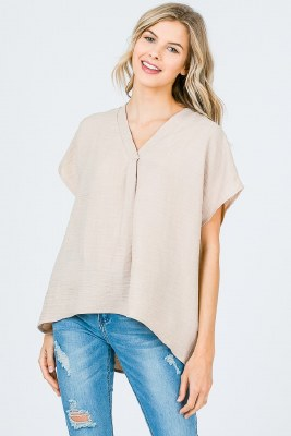 Pleated Front Dolman Top
