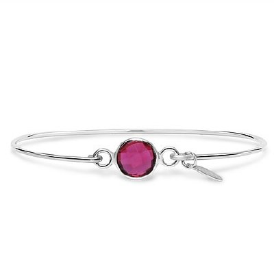 Silver July Birthstone Bracelet