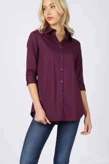3/4 Folded Sleeve Shirt