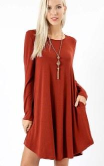 Long Sleeve A-Line Dress Extra Large