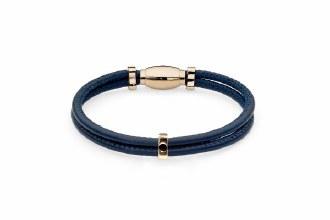 Leather Bracelet G Sm Dress Bl