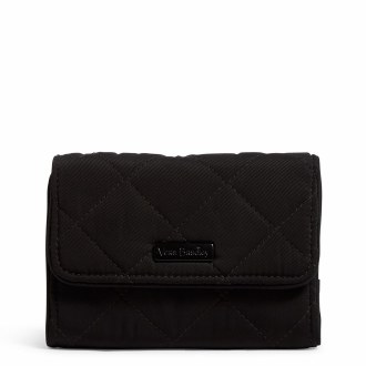 Iconic RFID Riley Compact Wallet: Black