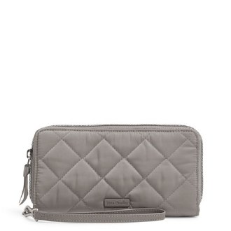 RFID Accordian Wristlet Tranquil Gray