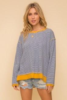 Rib Stripe Pullover