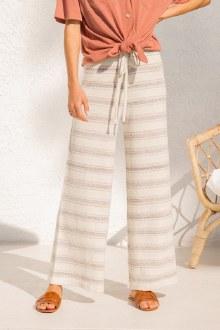 Stripe Wide Sweater Pants Medi