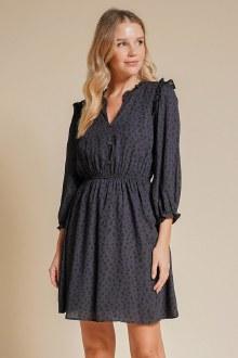 Animal Print Ruffle Dress Smal