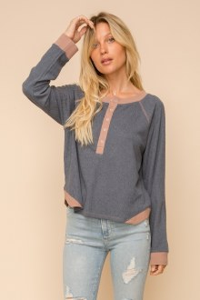 Cropped Henley Top Small
